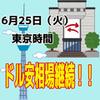 【6/25東京時間】引き続きユーロドル、オージードルのロング!