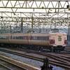 国鉄名古屋駅を行き交う列車 昭和60年の鉄道写真 ネガ29-3