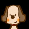 動物アイコン・犬/商用利用無料おたよりフリーイラスト素材集