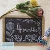 【月齢フォト】生後4ヶ月、ブラックボード紹介。