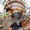 京都錦市場の東端  錦天満宮 の混雑状況をみる #360pic