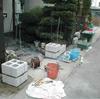 化粧ブロック積み1-1(和風 大谷石タイプ人造ブロック仕上げ例)