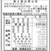 ルノー・ジャポン株式会社 第6期決算公告