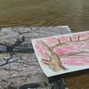 桜のハガキを作りました。