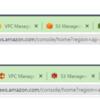 AWS、Chrome拡張機能でファビコンをAWSアイコンにする