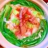 ツナと青梗菜の中華風とろろ煮麺
