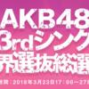 2018AKB48選抜総選挙のポスターで投票したいと思った人ベスト10
