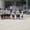 1年生:運動会練習① 徒競走の順番決め、準備運動