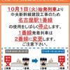 9月30日名古屋駅東1番使用最終日特急ひだ14号で行く1番線入線乗車の旅