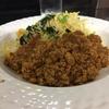 ホーレン草と卵入りインド米ライス、キーマカレー