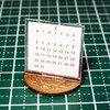 【ミニチュア小物】卓上カレンダーの作り方