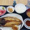小田保でサバの開き焼き定食