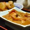 豊洲の「米花」で牡蠣味噌煮、煮物、昆布煮。