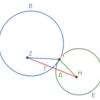 第3巻命題12 外接する二円の中心を結ぶ線分
