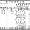 株式会社マザー牧場 第59期決算公告