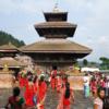 ネパ-ルの宮廷と寺院・仏塔 第224回     カトマンドゥ盆地の寺院と仏塔 パナウティの寺院 8回目