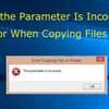 HDDや外付けHDDなどで「パラメーターが間違っています」エラーが出た場合の解決策