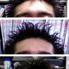汗で髪の毛がハリネズミ状態に。