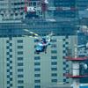 2019年7月11日(木) 警視庁災害警備総合訓練で警視庁本部ヘリポートにやって来たヘリコプターを丸ビル35階から撮った話