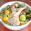この夏は、青魚の酢醤油漬と夏野菜の塩水漬に挑戦
