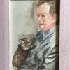 亡き父の肖像画を描きました
