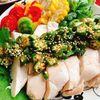 鶏むね【蒸し鶏】のオクラソース・BONIQ(動画レシピ)/Steamed Chicken with Okra sauce.