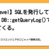 【Laravel】SQLを発行しているのに、DB::getQueryLog()で空が返ってくる。