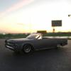 '64 Lincoln Continentalに乗って、夕焼けの土手へ。