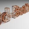 Blender 235日目。「銅線状のテキスト」。