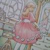 色辞典色鉛筆で『鏡の前でおめかし中のページ』を塗り始めましたv森の少女の物語より