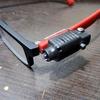 工具用ライトをメガネにつけると便利