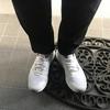 ノースフェイスの靴を履いた