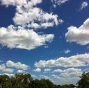 空を見上げて、深呼吸
