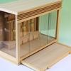 筋を通したシンプルな箱型神棚 ガラス宮神殿