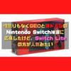 性懲りもなくGEOとヨドバシのNintendo Switch抽選に応募したけど、Switch Liteの方が人気みたい