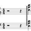 譜面解釈とMIDI表現 (1) ハープのアルペジオ