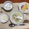 野菜たっぷりシチューとチーズ豆腐と白玉ミルク
