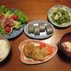 ペッパービーフと常備野菜のサラダ