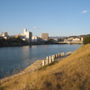 基町河岸の注意書き