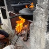 わくわくの里で焚き火料理 フォカッチャと燻製