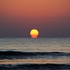 キノコ太陽 海に沈む太陽