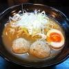 【今週のラーメン539】 新月 (大阪・農人橋) 鶏団子ラーメン・醤油・大盛り