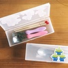 【おすすめ園グッズ】シンプルなカトラリーケースなら無印良品ペンケースで代用可能(箸,スプーン,フォーク収納)