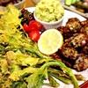 夢咲菜のパコラとアボカドディップ&なまり節とエシャレットの香粉揚げ