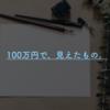 拝啓、前澤友作様。〜生まれて初めて、100万円の使い道を考える。