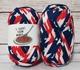 Tシャツヤーン レアカラー 30m T-SHIRT YARN ファブリックヤーン 手芸 ハンドメイド 糸 (アメリカントリコロール) | Tシャツヤーンマニア