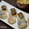 柚子の手まり寿司と生姜焼き♬