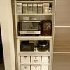 【おうちを整える】キッチンの収納を見直しました。ストック棚のケースを引き出しに。
