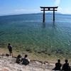(琵琶湖ぶらぶら)車でビワイチ 白髭神社、彦根城、多賀大社