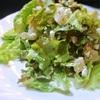 白桃とカッテージチーズ入りグリーンサラダ